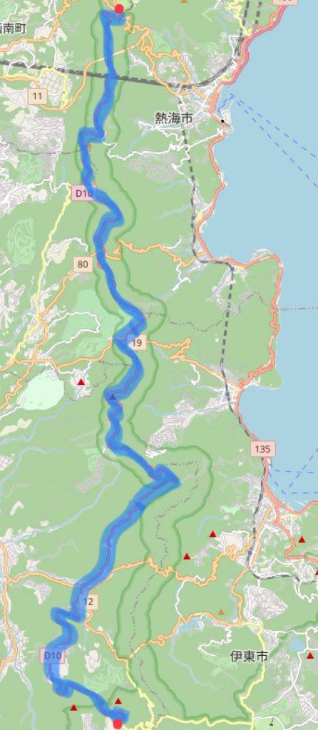 izu skyline route map