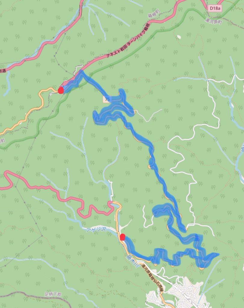 Tsubaki Line route map